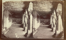 Interior of verandah from left end of Buddhist vihara, Cave XI, Ajanta 2077